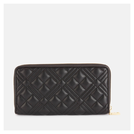 Love Moschino Women's Quilted Large Zip Around Wallet - Black
