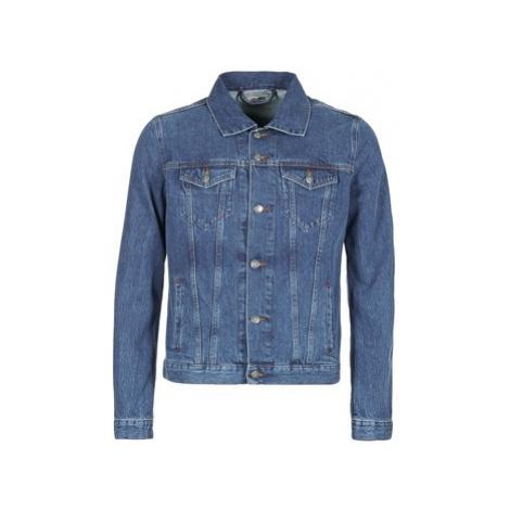 Blue men's denim jackets