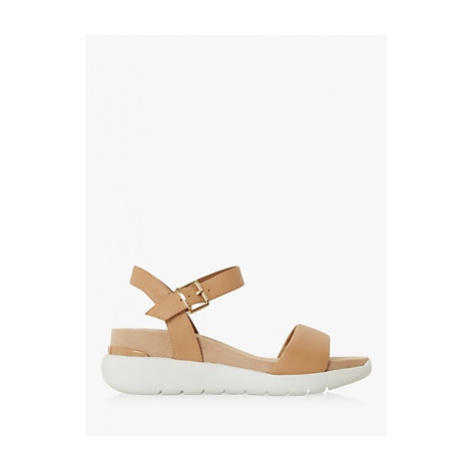 Dune Kyoto Leather Comfort Flatform Sandals