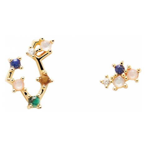 P D PAOLA Gold Plated Pisces Constellation Earrings