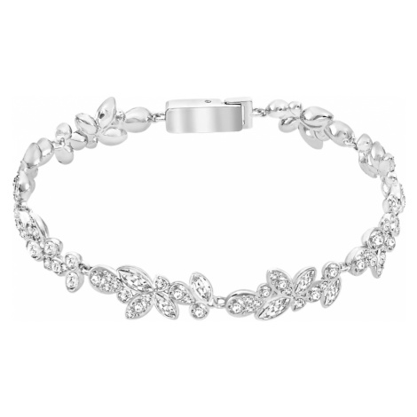 Diapason Bracelet, White, Rhodium plated Swarovski
