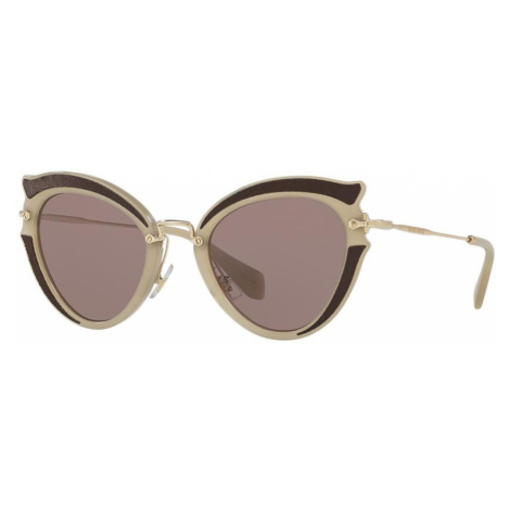 Miu Miu Woman MU 05SS - Frame color: Green, Lens color: Brown, Size 52-23/140