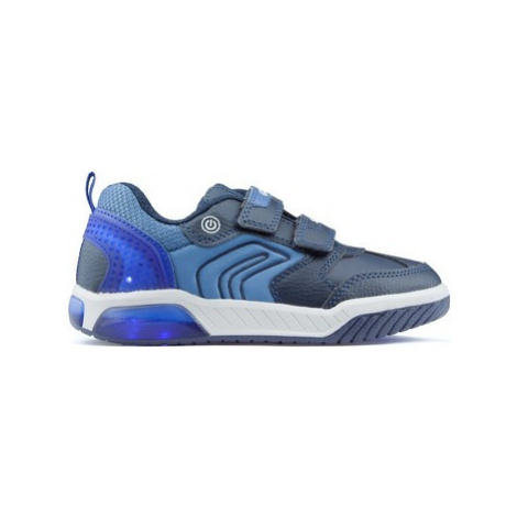 Geox INEK BD lights shoes girls's Children's Shoes (Trainers) in Blue
