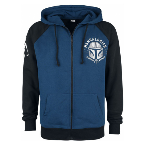 Star Wars The Mandalorian - Legendary Warrior Hooded zip blue black