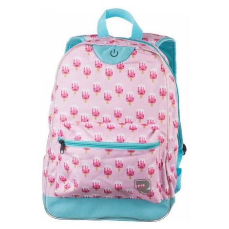 Runto RT-LEDBAG-LOLLY pink - Children's backpack with lightning