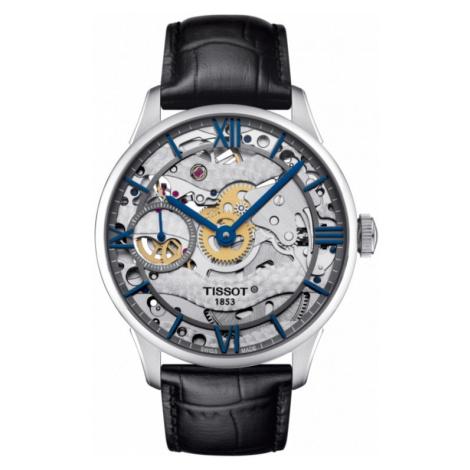 Mens Tissot Chemin des Tourelles Squelette Mechanical Watch T0994051641800
