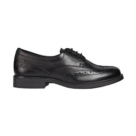 Geox Children's Agata Lace-Up Brogue Shoes, Black