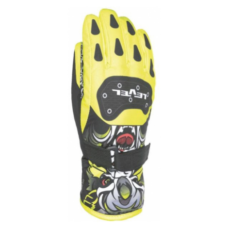 Level DARK JR yellow - Kids' ski gloves