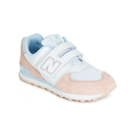 New Balance YV574 girls's Children's Shoes (Trainers) in Pink