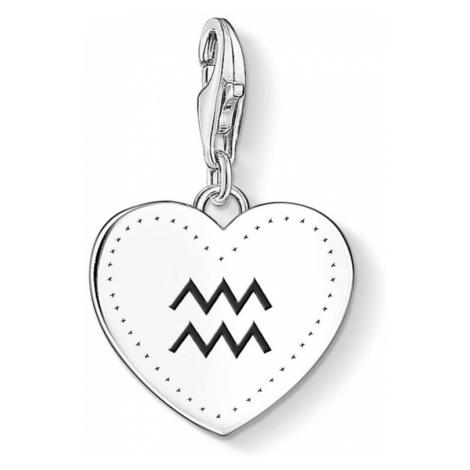 THOMAS SABO Charm Club Silver Aquarius Sign Heart Charm