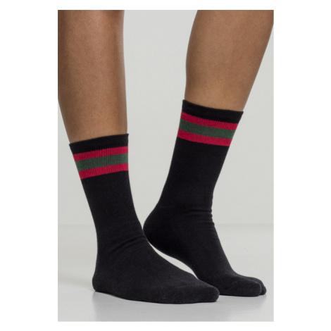 Urban Classics Stripy Sport Socks 2-Pack black/firered/green