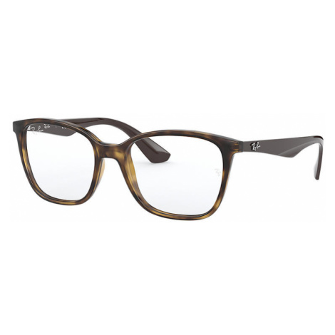 Ray-Ban Rb7066 Unisex Optical Lenses: Multicolor, Frame: Brown - RB7066 5577 54-17