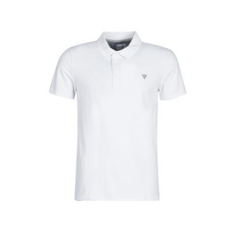 Guess DUANE men's Polo shirt in White