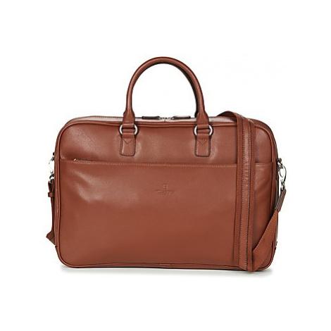Hexagona BACINA men's Briefcase in Brown
