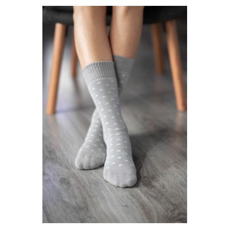 Be Lenka Winter barefoot socks - Crew - Stars - Grey 43-46