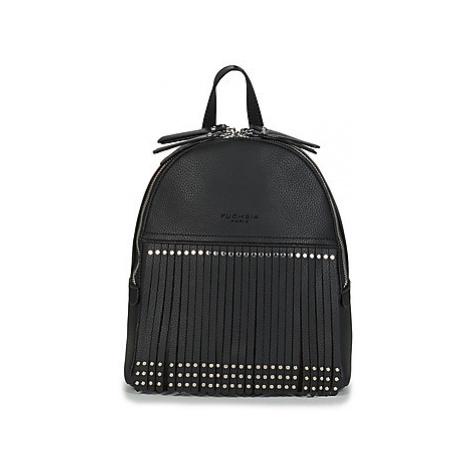 Fuchsia MUMBAI women's Backpack in Black
