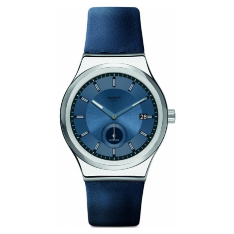 Mens Swatch Petite Seconde Blue Automatic Watch