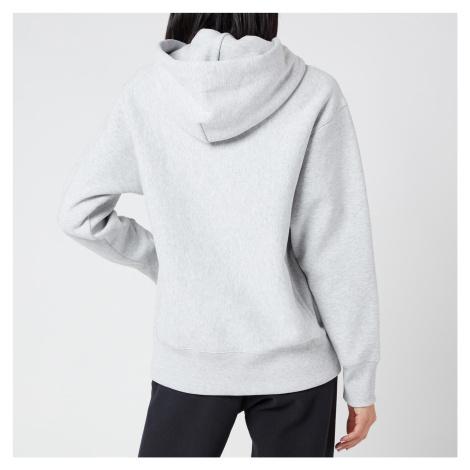 Champion Women's Small Script Hooded Sweatshirt - Grey Marl