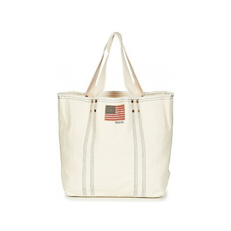 Polo Ralph Lauren LG FLAG TOTE women's Shopper bag in White