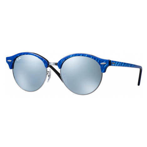 Ray-Ban Clubround flash lenses Unisex Sunglasses Lenses: Gray, Frame: Blue - RB4246 984/30 51-19