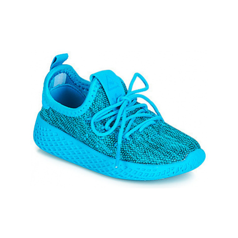 Adidas PW TENNIS HU I girls's Children's Shoes (Trainers) in Blue