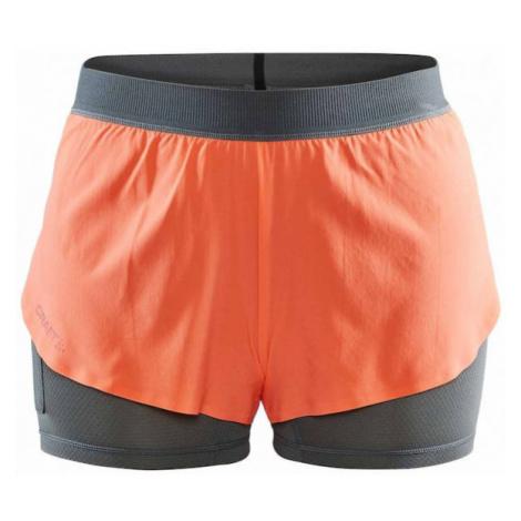 Craft VENT 2v1 W orange - Women's running shorts
