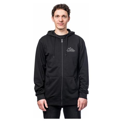 sweatshirt Horsefeathers Peaks Zip - Black - men´s