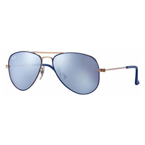 Ray Ban Aviator junior Unisex Sunglasses Lenses: Violet, Frame: Bronze-copper - RJ9506S 264/1U 5