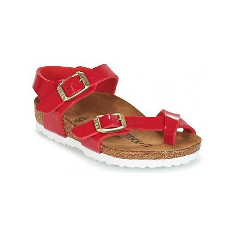 Birkenstock TAORMINA girls's Children's Mules / Casual Shoes in Red