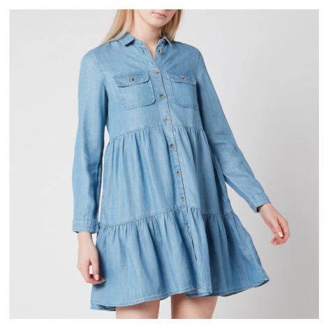 Superdry Women's Tiered Shirt Dress - Light indigo Used