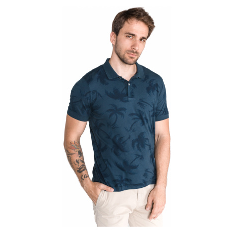 Tommy Hilfiger Allover Palm Polo shirt Blue
