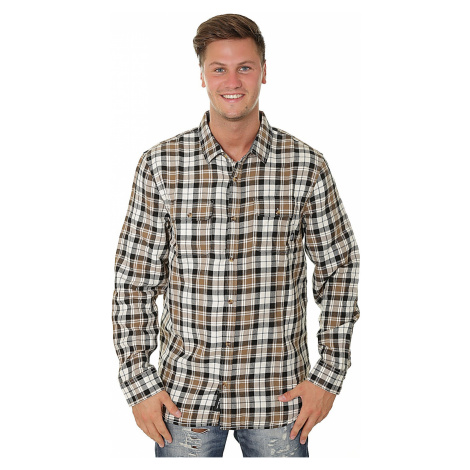 shirt Vans Sycamore LS - Natural/Dirt - men´s