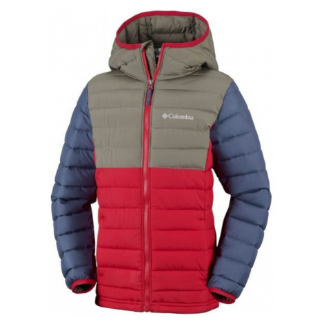 Columbia POWDER LITE BOYS HOODED JACKET red - Boys' insulated jacket