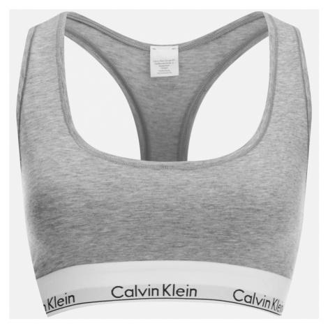 Calvin Klein Women's Modern Cotton Bralette - Grey Heather