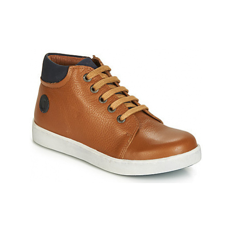 Aster SILA boys's Children's Shoes (High-top Trainers) in Brown