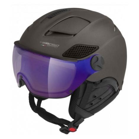 Mango MONTANA VIP gray - Unisex ski helmet with a visor