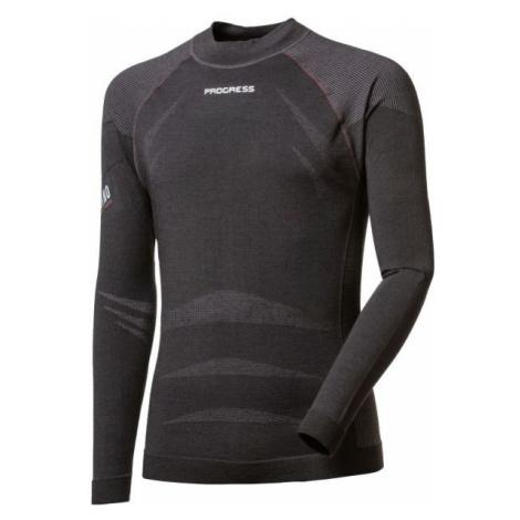Progress MRN SEAMLESS LS-M dark gray - Men's functional T-shirt