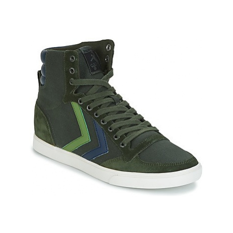 Hummel SLIMMER STADIL DUO CANVAS HIGH women's Shoes (High-top Trainers) in Green