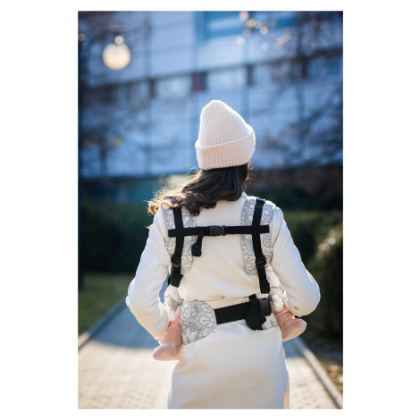 Baby carrier - Be Lenka Mini - Folk - Grey classic without the possibility of crossing