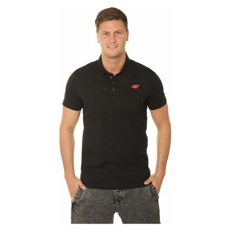 T-Shirt 4F H4L19-TSM023 Polo - 20S/Deep Black - men´s