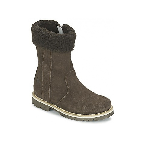 Petit Bateau T-FUR girls's Children's High Boots in Brown
