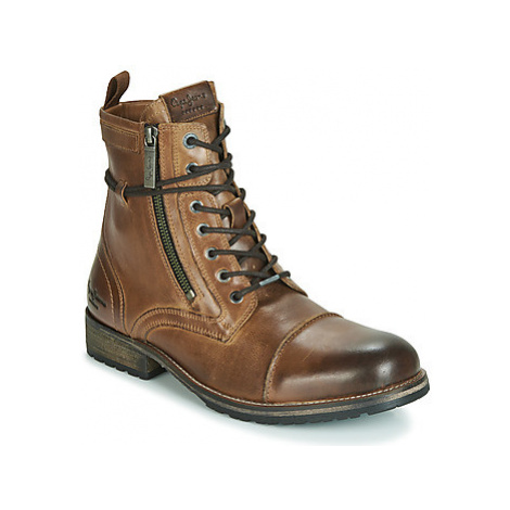 Pepe jeans MELTING men's Mid Boots in Brown