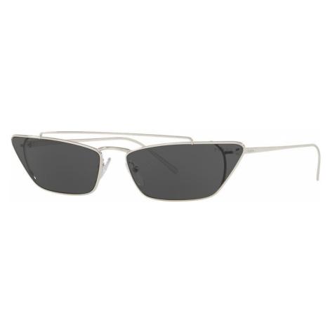 Prada Woman PR 64US - Frame color: Silver, Lens color: Grey-Black, Size 67-16/140