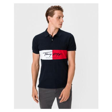 Tommy Hilfiger Autograph Flag Polo T-shirt Blue