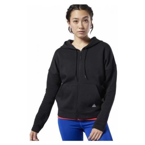 Black women's sports zip-through sweatshirts and hoodies