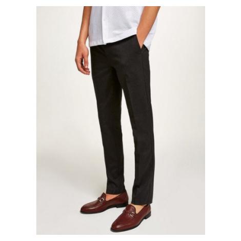 Mens Grey Skinny Fit Smart Trousers, Grey Topman
