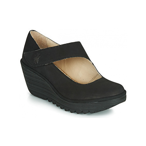 Fly London YASI women's Court Shoes in Black