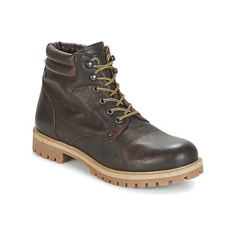 Jack Jones STOKE LEATHER BOOT men's Mid Boots in Brown Jack & Jones
