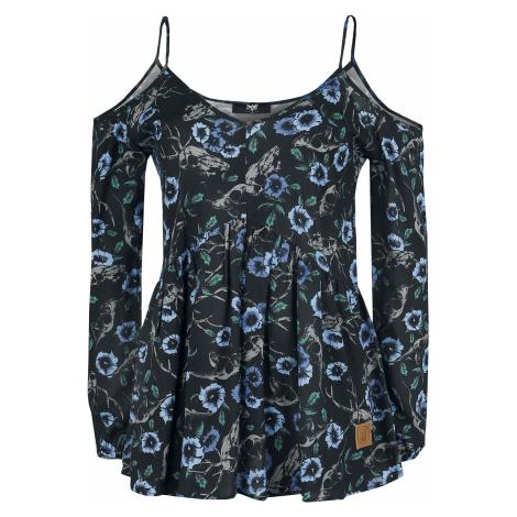 Black Premium by EMP - Cold-Shoulder Blouse Black Premium - Girls Blouse - black