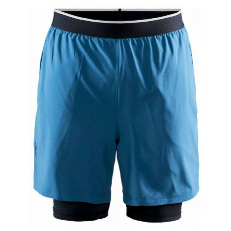Craft CHARGE 2v1 blue - Men's sports shorts